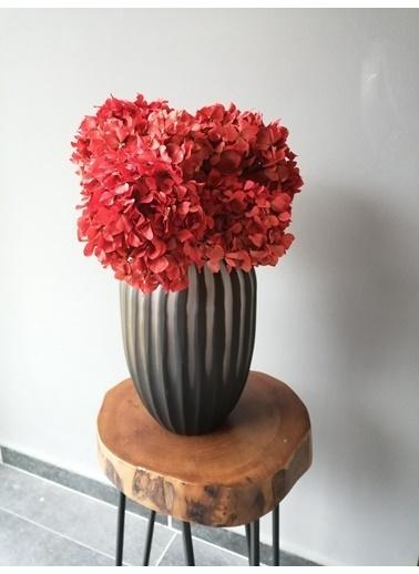 Kuru Çiçek Deposu Solmayan Gerçek Ortanca Buketi Kırmızı 4-5 Adet , Kuru Çiçek Kırmızı